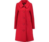 Wool-crepe Coat Signalrot