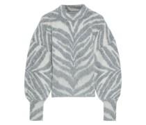 Ladybeetle Pullover aus Einer Alpakamischung mit Zebraprint