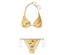 Pamela Metallic Stretch-pvc Bikini