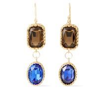 Goldfarbene Ohrringe mit Kristallen