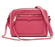 Avery Textured-leather Shoulder Bag Fuchsia
