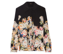 Printed Silk-chiffon Shirt Mehrfarbig