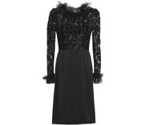 Ruffled Embellished Tulle And Satin-crepe Dress
