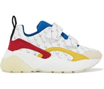 Eclypse Bedruckte Sneakers aus Kunstleder und Veloursleder