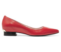 Polly Leather Ballet Flats Rot