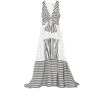 Selvino Tiered Printed Silk-blend Maxi Dress