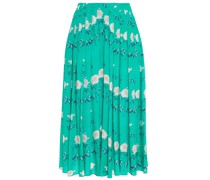 Richie Pleated Floral-print Silk Crepe De Chine Midi Skirt