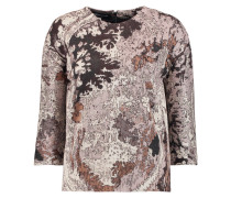 Jacquard-knit Cotton, Wool And Silk-blend Sweater Mehrfarbig