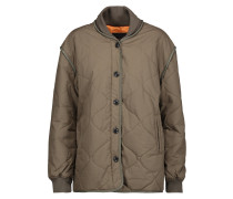 Addison Quilted Cotton Jacket Armeegrün