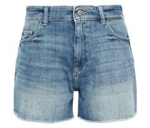 Jeansshorts in ausgewaschener Optik