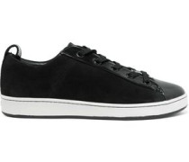 Brayden suede and patent-leather sneakers