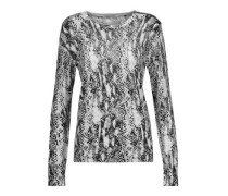 Ondine snake-print silk and cashmere-blend sweater