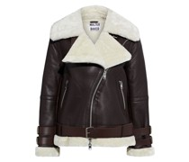 Whitney Faux Fur-trimmed Leather Biker Jacket