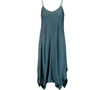 Striped Jersey Midi Dress Graugrün