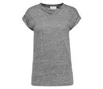 Slub Linen-jersey T-shirt Grau