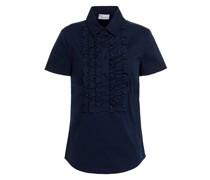 Hemd aus Popeline aus Einer Baumwollmischung mit Nieten und Rüschen
