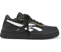 Dual Court Ii Sneakers aus Narbenleder und Mesh