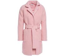 Belted Wool-blend Bouclé Coat