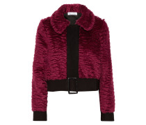 Wool-trimmed Mohair And Cotton-blend Jacket Plaume