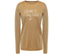 Embroidered Metallic Knitted Sweater