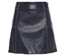 Coated Wool-blend Mini Skirt