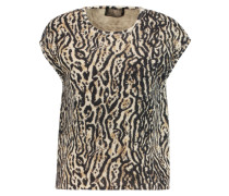 Leopard-print Knitted Top Leoparden-Print