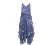 Moonlight Nyx Asymmetrisches Kleid aus Chiffon mit Floralem Print