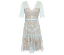 Neroli Grosgrain-trimmed Chantilly Lace Dress