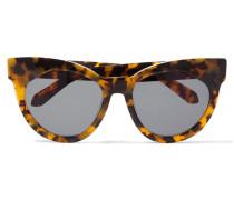 Starburst Cat-eye Acetate Sunglasses Horn