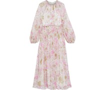 Super Eight Braid Floral-print Silk-georgette Midi Dress