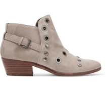 Pedra embellished suede ankle boots