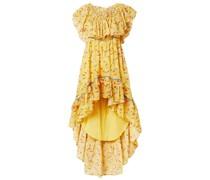 Alexia Gestuftes Kleid aus Baumwollgaze mit Rüschen und Floralem Print