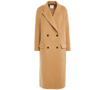 Double-breasted Brushed Wool-twill Coat