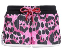 Printed Mesh Shorts
