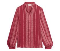 Hera silk-blend jacquard blouse