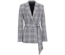 Belair Belted Checked Wool Jacket