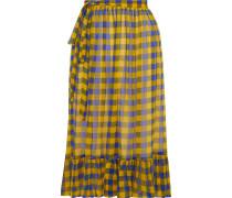 Selda Gathered Printed Georgette Skirt
