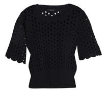 Laser-cut Stretch-knit Top
