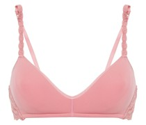 Never Say Never Lace-trimmed Stretch-jersey Contour Bra