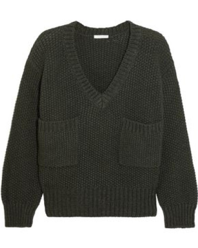 Knitted Sweater Dark Green