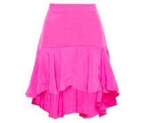Asymmetric Silk Crepe De Chine Mini Skirt