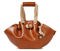 Lynne Bead-embellished Leather Tote