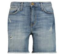 The Boyfriend Rolled Short Denim Shorts Mittelblauer Denim