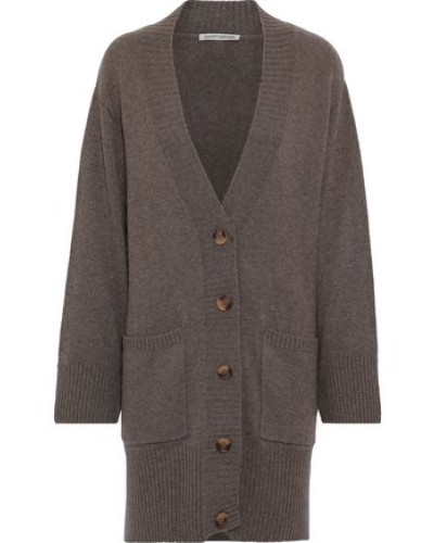 Oversized Knitted Cardigan Taupe
