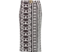 Printed Jersey Midi Skirt Schiefer
