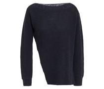 Gerippter Pullover aus Einer Baumwoll-leinenmischung