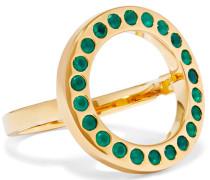 Pop Circle Gold-tone Crystal Ring