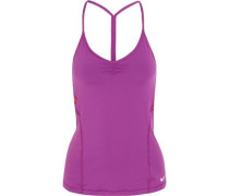 Indy mesh-paneled stretch-jersey tank