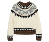 Hudson Intarsia Knitted Sweater Creme