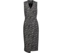 Carissa wrap-effect marled stretch-knit dress
